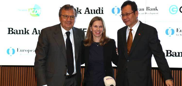 November 2018 signing of EBRD loan to Bank Audi, Lebanon, for green projects