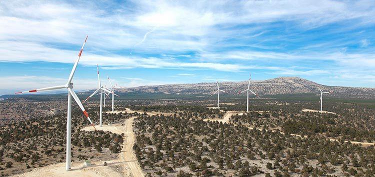 Turbines at Turkish wind farm